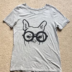 LOFT graphic tee with French Bulldog Size M